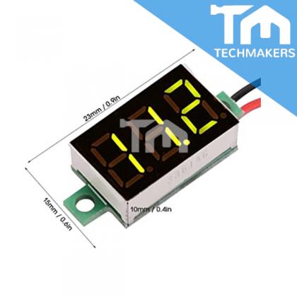 2 wires Digital Voltage Meter Mini Voltmeter (Blue LED Display)