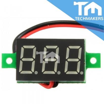2-Wire 2.5V ~ 30V DC Digital Voltage Meter Mini Voltmeter (Red LED Display) Measure Multimeter 3-Digit