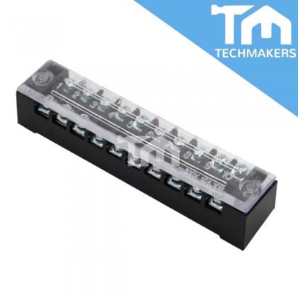 10 Pole Fixed Barrier Terminal Block  TB-1510 600V, 15A