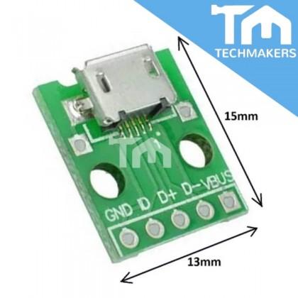 USB Micro-B Receptor Breakout Board