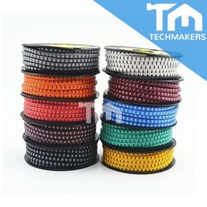 EC Type-1 Cable Markers, Yellow, Number 9, 3.0mm