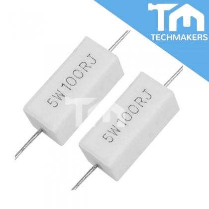 100 ohm Ceramic Resistance Cement Resistor (5W100RJ)