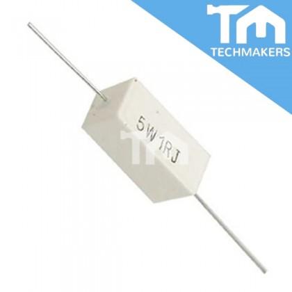 1 ohm Ceramic Resistance Cement Resistor (5W1RJ)