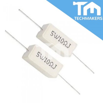 10 ohm Ceramic Resistance Cement Resistor (5W10RJ)
