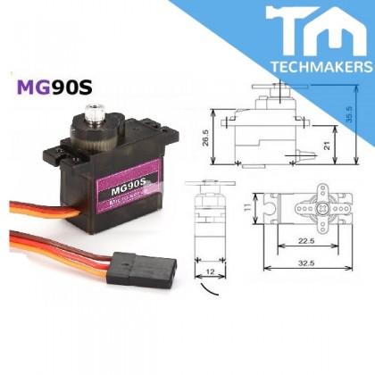 Towerpro MG90S Metal Gear Micro Servo 0-360 Degree (Continuous)