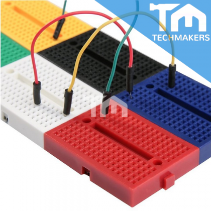 Mini Breadboard SYB-170 47x35mm 170 Hole Point Solderless Project Bread Board Color Black White Yellow Green Red Blue