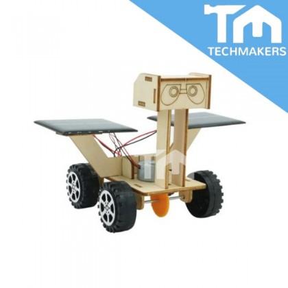DIY Solar Toys 3D Wooden Wood Puzzle Car Wall-E (Under Sun Light)