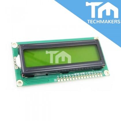 16x2 LCD Display Module 1602 - Yellow