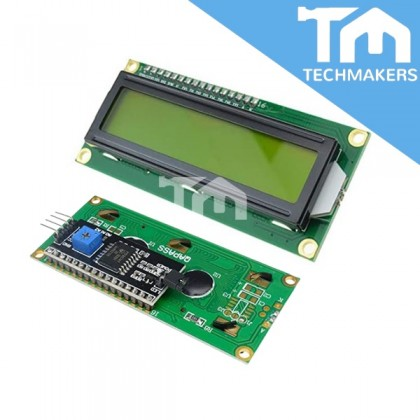 Arduino Serial IIC I2C LCD 1602 (16x2) Yellow Liquid Crystal Display Module