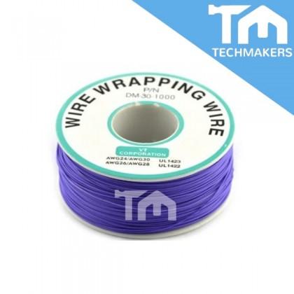 30AWG wire single core copper wire wrapping wrap, PCB jumper circuit board (Purple)(250M)