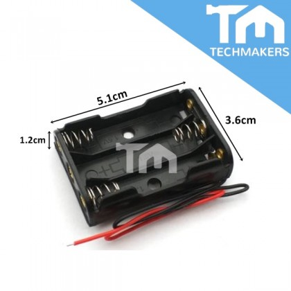 Battery Holder Casing AA (2A) / AAA (3A) / 18650 9V 3.7V 1.5V (1,2,3, or 4 Slot)  (No Cover)