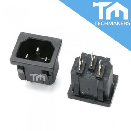 AC-05 Power Socket 3 Pin Male Plug Connector 10A 250V
