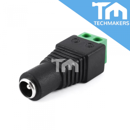 DC Power Connector Female Jack with screw terminal