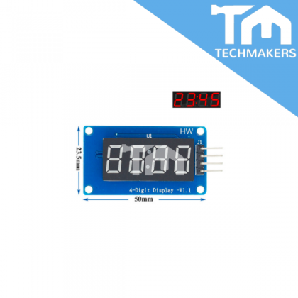4-digit digital tube display module LED brightness adjustable with clock point TM1637 suitable for UNO device