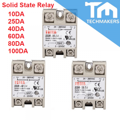 Fotek Fotex 25A 40A 80A 100A DC to AC Solid State Relay SSR - 25DA 40DA 80DA 100DA