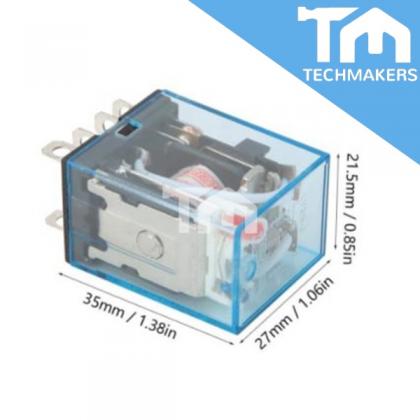 Omron Relay 10A 12V/24V LY2N-J / MY2N DPDT / MY4N 4PDT Transparent Shell Relay Module LED Lamp Indication