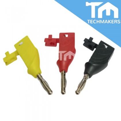 Premium Stackable Banana Plug 20A Black / Red / Yellow Binding Post Unshrouded