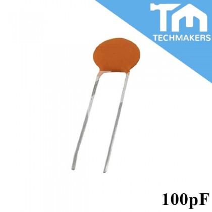 10 pcs of Ceramic Disc Capacitor 15pF, 10pF, 100pF, 1nF, 10nF, 100nF