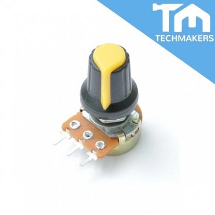 5 pcs of Potentiometer Switch Knob Cap - Yellow 6mm WH148