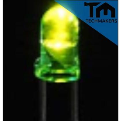 10 pcs of LED 5mm clear GREEN