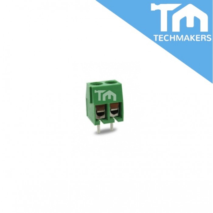 2 Pin Screw Terminal Block Connector 3 81mm Green