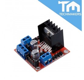 L298N Dual H-Bridge Motor Driver Module: Red