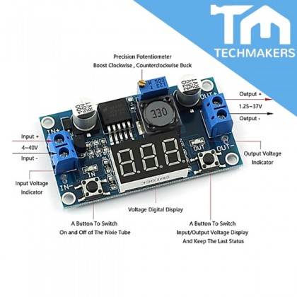 LM2596 3A Buck Module with Display