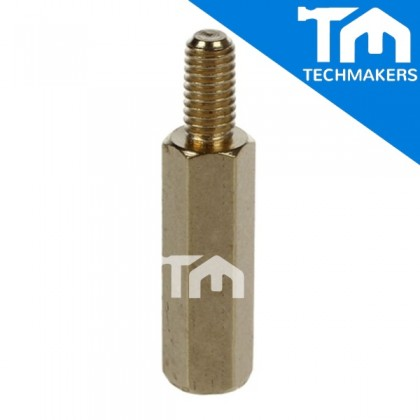 M3 Male to Female Brass Screw Thread PCB Stand-off Spacer