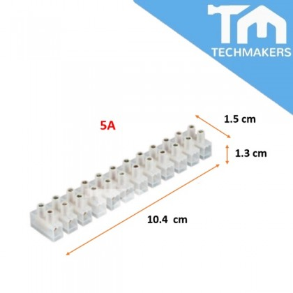 12-Way 5A, 10A, 20A PVC Cable Connector Terminal Block