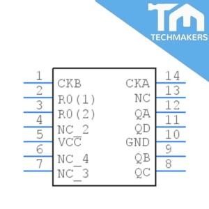 SN74LS93N Binary UP Counter DIP-14