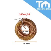 Toroid Coil Inductor 100uH 3A