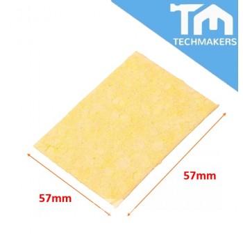6cm * 6cm Soldering Iron Solder Tip Welding Cleaning Sponge Yellow