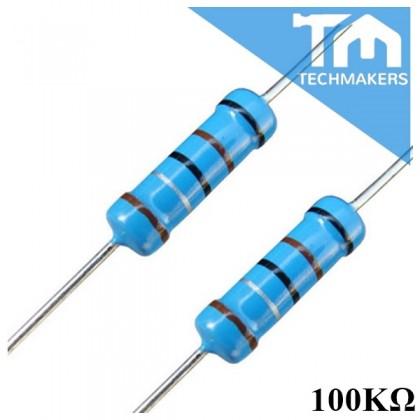 10 pcs of Metal Film Resistor 1% 0.25W 1, 10, 100 1K, 10K, 100K, 1M ohm