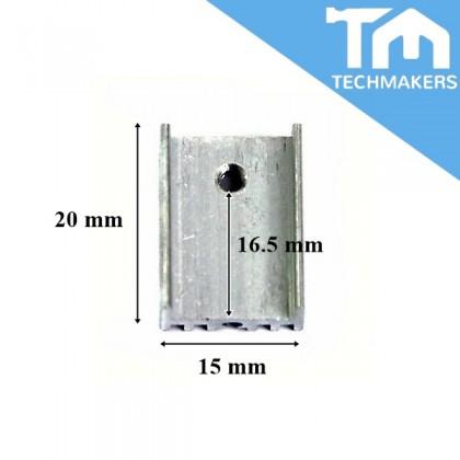 5 pcs TO-220 Aluminium Heatsink Heat Sink 20x15x10mm Silver for Voltage Regulator