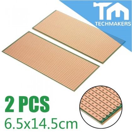 2Pcs Stripboard Veroboard Uncut PCB Platine Single Side Circuit Perf Board