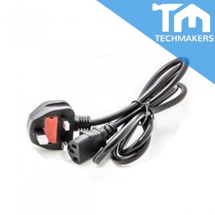 3-Pin UK 1.5m Meter 13A Fused Fuse Power Supply Cord (Quality Grade) Desktop PC LCD Monitor Laptop Printer Cable Wire