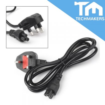 3-Pin UK 1.5m Meter 13A Fuse Fused Flower Type Power Cord Supply (Quality Grade) Desktop PC Laptop Charger Cable Wire