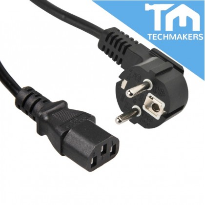 2-Pin Europe EU 1.8m Meter 13A (Long/Extend) Power Cord (Quality Grade) Desktop PC LCD Monitor Laptop Printer Cable Wire