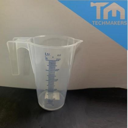 250ml Plastic Jug Measuring Jug for Kitchen   Cooking   Baking   Laboratory