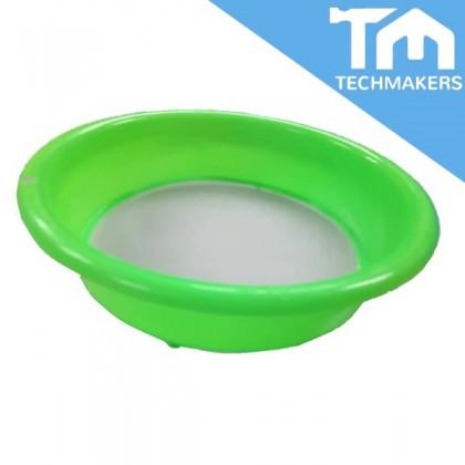 """8"""" Plastic Net Flour Strainer Round For Kitchen"""