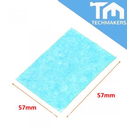 6cm * 6cm Soldering Iron Solder Tip Welding Cleaning Sponge Blue
