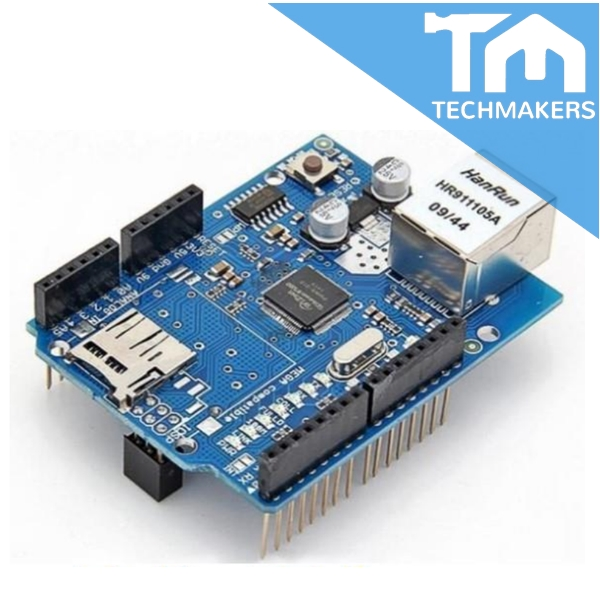 Arduino Ethernet W5100 Shield with micro SD card slot